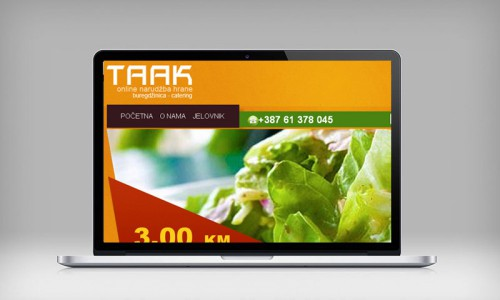 Taak Hrana | Website.ba | Development of website