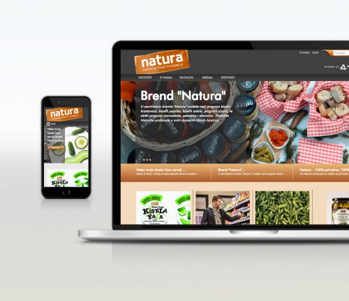 Naturafood.ba | Website.ba | Development of website